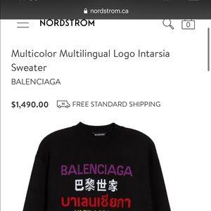 Balenciaga Multi Language sweater/sweatshirt 9/10